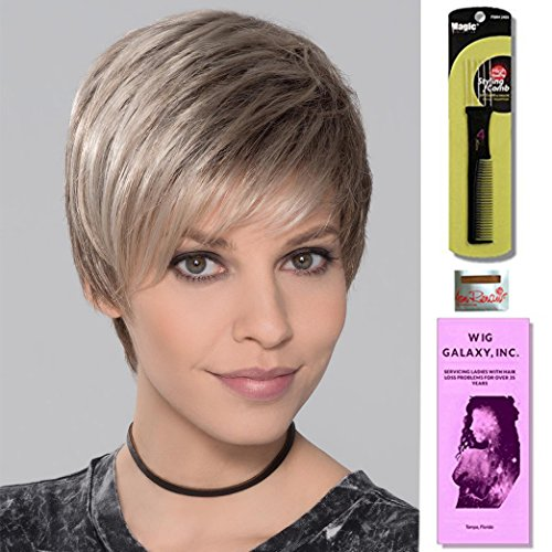 (You by Ellen Wille, Wig Galaxy Hair Loss Booklet, Wig Cap & Magic Wig Styling Comb/Metal Pick Combo (Bundle - 4 Items), Color Chosen: Cognac-HP)