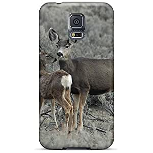 samsung galaxy s5 Plastic phone cover case Cases Covers Protector For phone Impact mother deer fawn