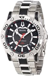 Bulova Men's 96B156 Precisionist Champlain Black carbon fiber Watch