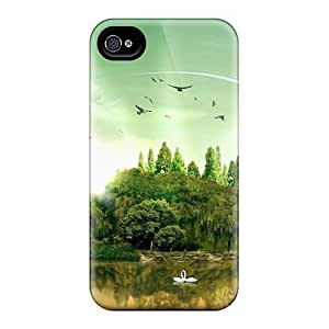 Fashion Tpu Case For Iphone 4/4s- Fantasy Island Defender Case Cover