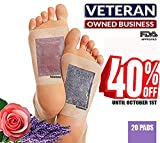Cleansing Foot Pads (Pack of 20) by RoCaFutures: 2 in 1 Foot Pads | Lavender & Rose Scented | All Natural & Premium Ingredients | Promotes Sleep, Body Odor Reducer, Stress & Pain Relief