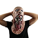 Scary Evil Clown Mask,Double Face Latex Rubber Mask by Monstleo,Halloween Costume Party Mask for Masquerade/Birthday Parties,Carnival Decorations (Blood)