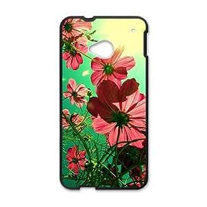 beautiful sunshine flowers personalized high quality cell phone case for HTC M7 wangjiang maoyi