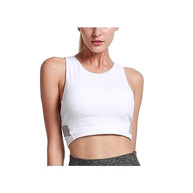 Soutien-gorge Brassière de Sports Femme Rembourré Dos Croisé pour Joggin  Yoga Fitness sans Armature 362ebbe2bb3