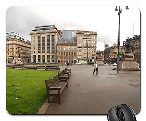 Mouse Pad - Glasgow George Square Panorama Scotland UK City