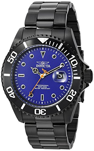 Invicta Men's 'Pro Diver' Quartz Stainless Steel Casual Watch, Color:Black (Model: 23008) (Invicta Black And Red)