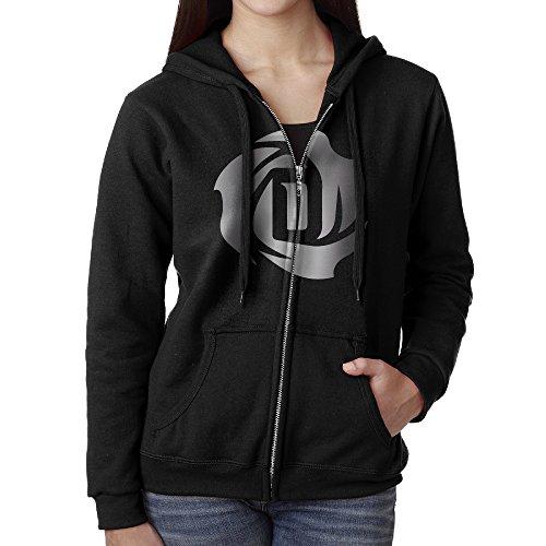 Women Derrick Rose Platinum Logo Hoodie Sweatshirt Black