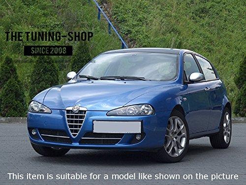 /10/Gear e freno a mano nero pelle italiana blu logo Per Alfa Romeo 147/2005/