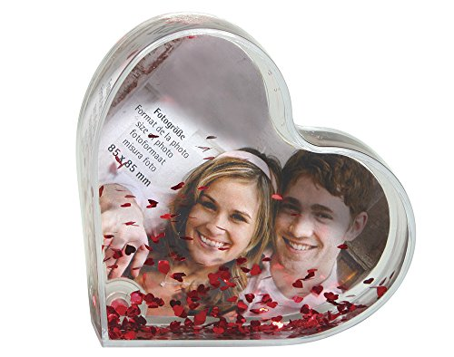Plastic Heart Shaped Snowglobe Sequin Shaker Photo Frame | Craft Kits & Gifts