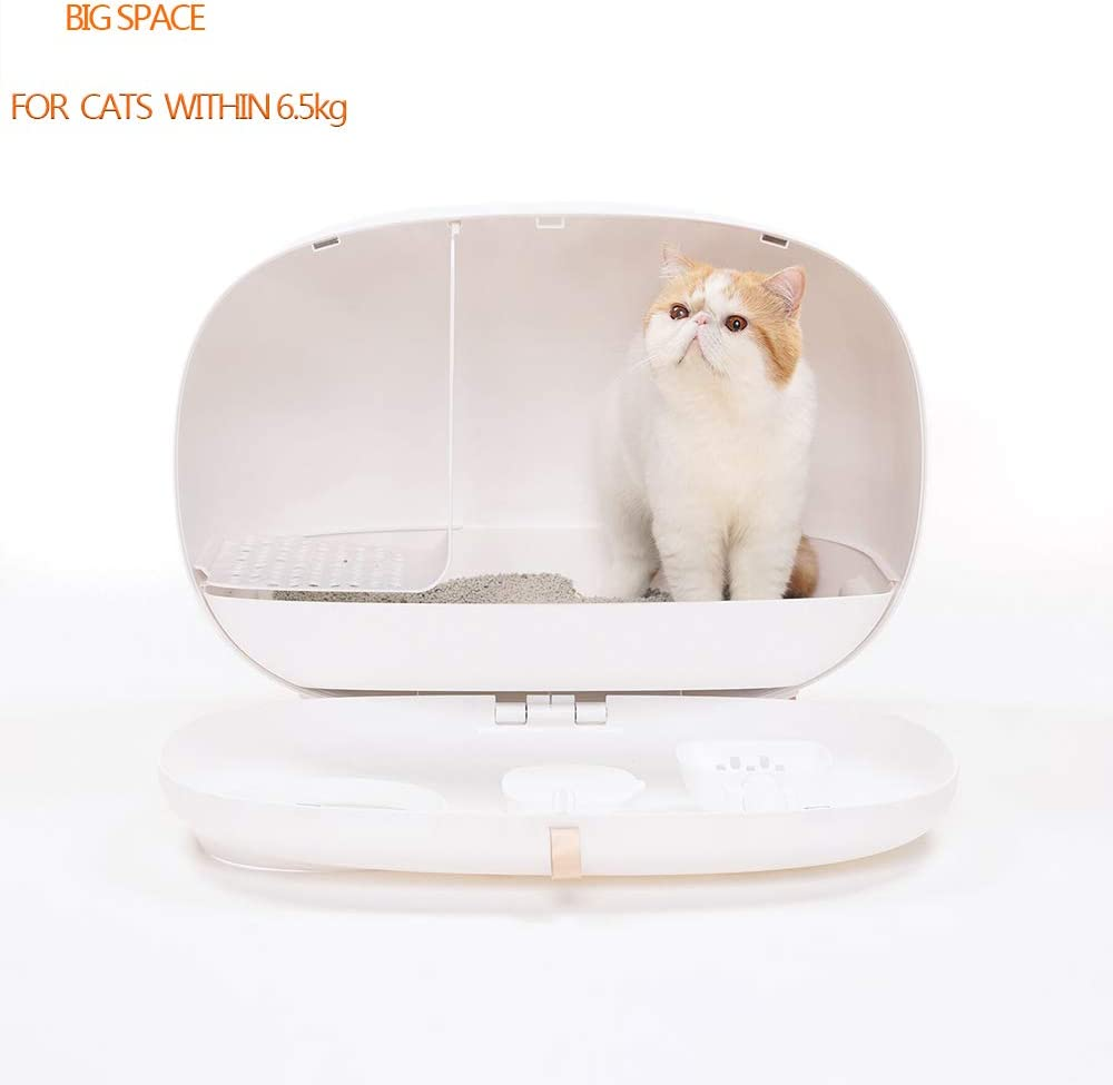 Amazon.com: Lucky-M caja de arena para gatos, diseño cerrado ...