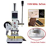 Hot Foil Stamping Machine 5 x 7cm Tipper Stamper Bronzing Card Foil Logo Embossing for for PVC leather PU and Paper Stamping (110V)