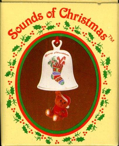 (Russ - Sounds of Christmas - Porcelain Bells - Teddy Bear Ornament)