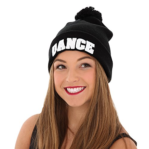 Just For Kix Dance Embroidered Pom Hat Stocking Cap for sale  Delivered anywhere in USA