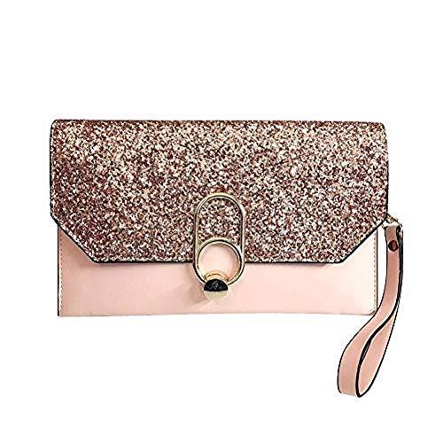 - Evening Bag Clutch Purses for Women,Ladies Evening Clutch Party Handbag Wedding Bag (Hot pink)