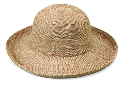 Wallaroo Hat Company Women's Victoria Sun Hat - Lightweight and Packable Hat, Mixed Camel