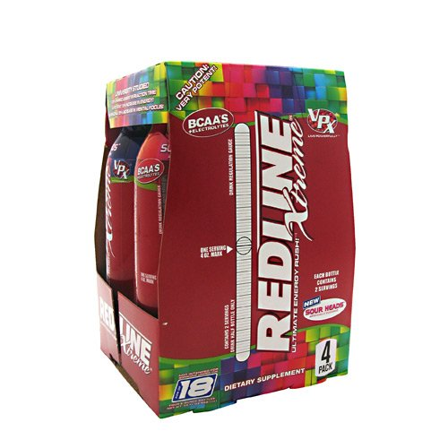 VPX Redline Xtreme Energy Ready to Drink, Sour Heads, 24 Count