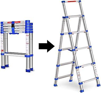 LXF Escaleras plegables Escalera Telescópica De Aluminio De 5.4 Ft, Escalera De Mano Plegable Portátil Para Trabajo Pesado, Capacidad De 330 Libras: Amazon.es: Bricolaje y herramientas