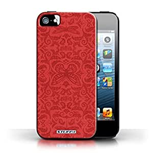 KOBALT? Protective Hard Back Phone Case / Cover for Apple iPhone 5/5S   Red Design   Insect Pattern Collection