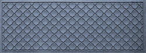 Bungalow Flooring Waterhog Indoor/Outdoor Runner Rug, 22'' x 60'', Skid Resistant, Easy to Clean, Catches Water and Debris, Cordova Collection, Bluestone by Bungalow Flooring