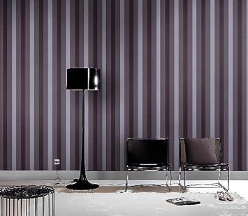 Rasch Tapete Lounge Schwarz Silber Streifen Neu 156553: Amazon.de ...