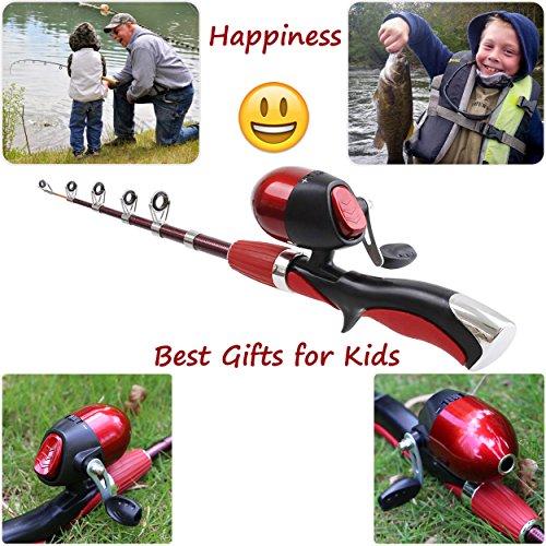 Kids fishing pole beginner 39 s starter fishing kit christmas for Best beginner fishing rod