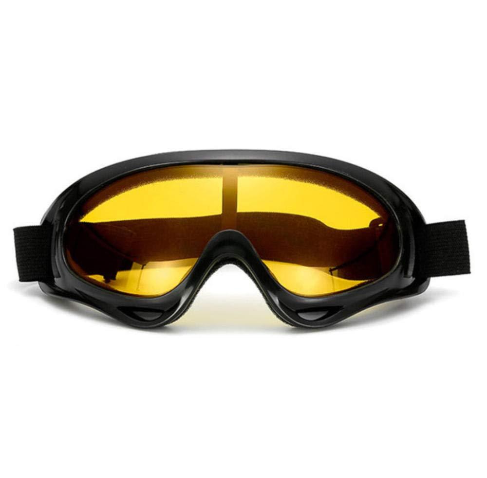 Hcqqy--Gafas De Moto Antideslumbrantes Todoterreno Gafas De Sol De Moto Deportes Gafas De Esquí Protección Contra El Viento Y El Polvo Equipo De Protección Uv Accesorios Gafas-Naranja