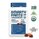 SmartyPants Organic Men's Complete Daily Gummy Vitamins: Gluten Free, Vegetarian Multivitamin & Omega-3