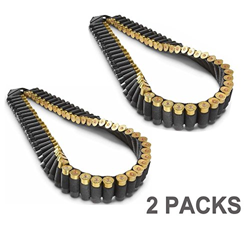 Pack of 2 AmeriGun.Club Shotgun Rifle Sling 56 Shell Bandolier /56 Rounds (2 Packs)
