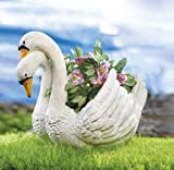 Swan Garden Planter by Collections Etc