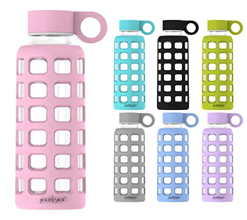 reusable glass water bottle - 1