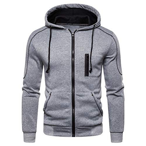 LUCAMORE Men's Autum Winter Pullover Hoodie Long Sleeve Hooded Sweatshirt Outwear Tops - American T-shirts Wholesale Apparel