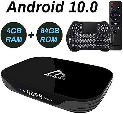 Android TV Box 10, 4GB 64GB Smart TV Box Compatible con 4K 3D, RK3318 Dual-WiFi 2.4g / 5g con Mini Teclado HDMI USB3.0: Amazon.es: Electrónica