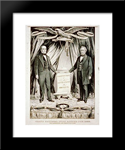 1860 U.S. presidential candidate John Bell and his running mate, Edward Everett 20x24 Framed Art Print by Currier and Ives (Currier & Ives Framed)