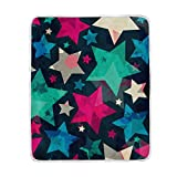 My Little Nest Warm Throw Blanket Retro Colorful Star Lightweight Microfiber Soft Blanket Everyday Use for Bed Couch Sofa 50'' x 60''