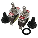 TWTADE/ 3 Pcs Heavy Duty Rocker Switch 3-Pin SPDT ON/ON 20A 125VAC 2 Position Toggle Switch + 3pcs Waterproof Cap Cover (Quality Assurance for 2 Years) ten-1121