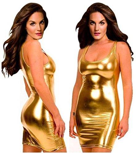 Impresionante figura forma Golden Shapping Clubwear Vestido