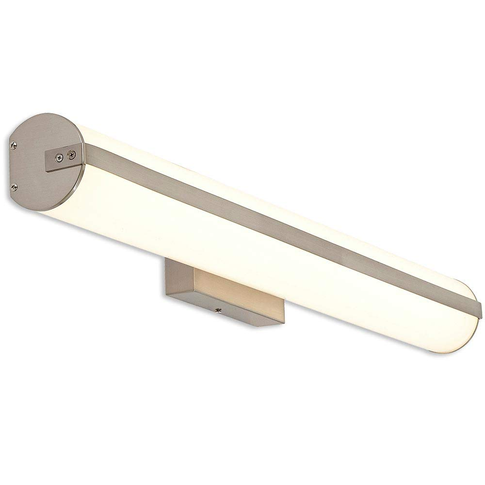 36 Contemporary Bar Light Frosted Vanity Cylinder Light Fixture for Bathroom Vanity and More