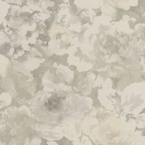 Cream Florentine (Florentine Floral Fabric Effect Wallpaper Grey and Natural Rasch 455601)
