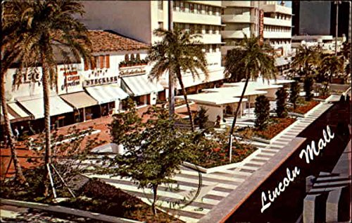 The New Lincoln Mall Miami Beach, Florida Original Vintage - Beach Mall Lincoln Miami