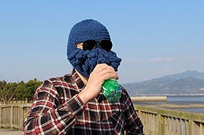 【Barsado】謎の生物 驚きの フルフェイス マスク ニット 帽子 ウィンター スポーツ スノボー スキー に (グリーン)