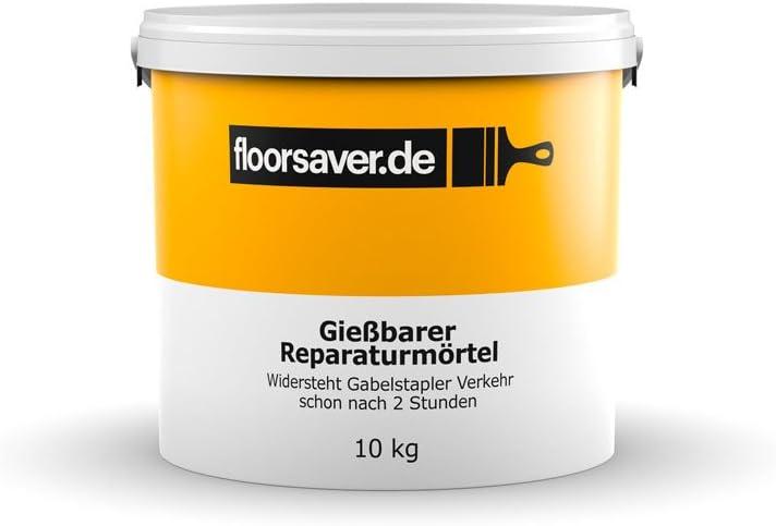 Floorsaver Gießbarer Reparaturmörtel für Beton 10kg Grau