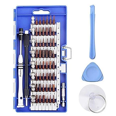 63 en 1 Juego de Destornilladores ,Previca Profesional Magnético Caja de Destornilladores de precisión kit Completa para reparación de PC Teléfonos ...
