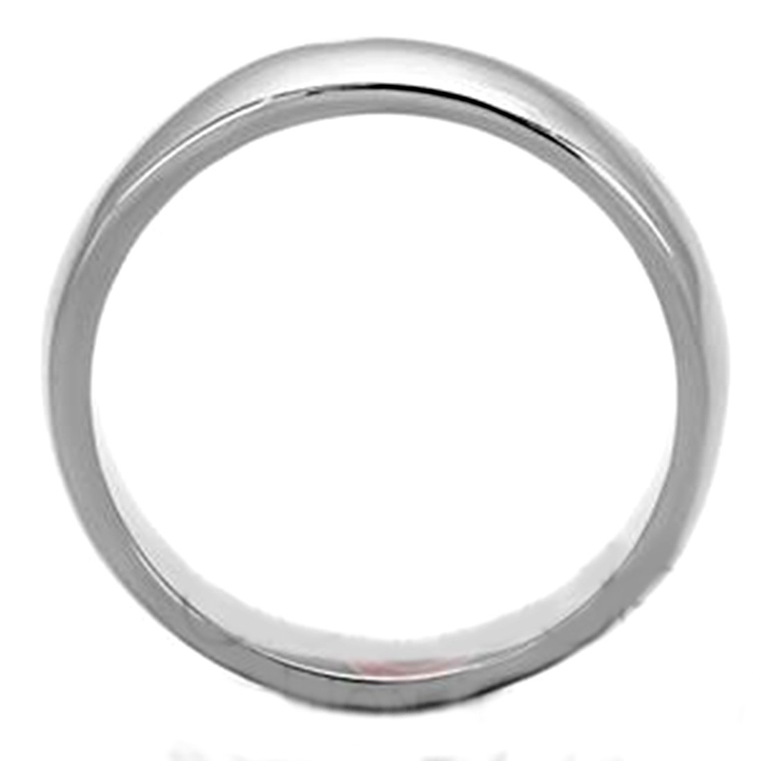 Size 6 Drop of Silver Classic Style Stainless Steel Smooth Wedding Band
