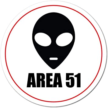 UFO Alien Spaceship Area 51 Vinyl Die Cut Car Decal Sticker-FREE SHIPPING