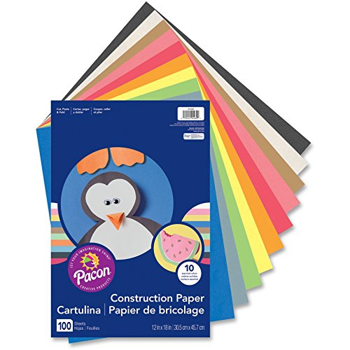 CONSTRUCTION PAPER ASSORTED 12X18 by PACON CORPORATION