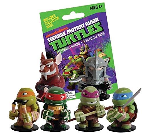 Nickelodeon Keychain (TMNT Teenage Mutant Ninja Turtles Mystery Mini Keychain Figure and 3D Puzzle Card (1 Random Figure) by Nickelodeon)