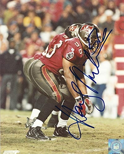 (Autographed Hardy Nickerson 8x10 Tampa Bay Buccaneers Photo)