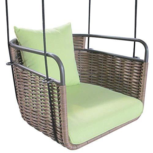 Brayden Studio Outdoor Patio Porch Single Resin Wicker Rattan Swing with Cushion + Free Ebook from Brayden Studio
