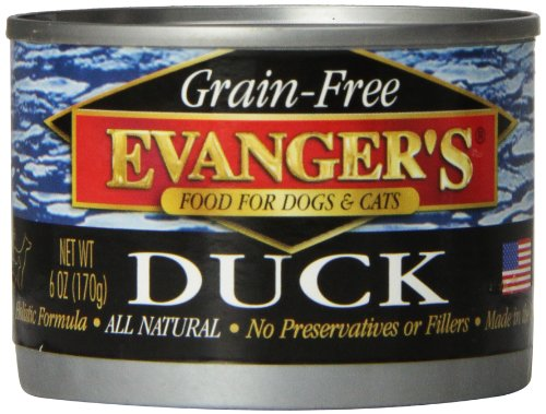 Evanger'S 776270 24-Pack Grain Free 100-Percent Duck For Dogs And Cats, 6-Ounce