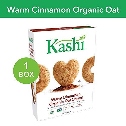 Kashi Heart to Heart, Breakfast Oat Cereal, Organic Warm Cinnamon, Non-GMO Project Verified, 12 Ounce (Pack of 1)